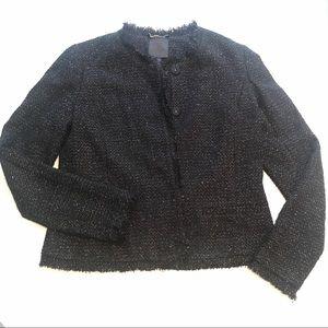 Joie Calimesa Metallic Tweed Jacket - size Large
